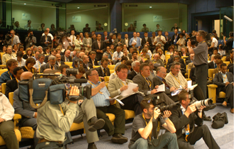 Journalists at the Council of Europe - Photo Credit: Consilium